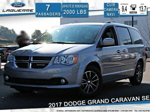 2017 Dodge Grand Caravan SE**7 PLACES*CUIR*DVD*NAVI*CAMERA*A/C*B
