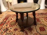 Solid oak old charm side table
