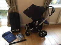 Bugaboo cameleon 3 pram and pushchair - classic collection limited edition - navy blue.