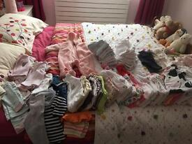Baby girls 0-3 clothes bundle