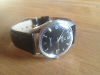 Black vintage Omega Seamaster Watch automatic with date (circa 1960)