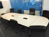 Large white conference / meeting table