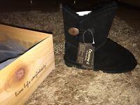Brand New*** BearPaw Black Boots UK 4