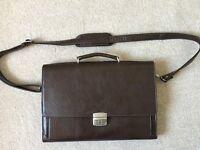 Bolumas mens genuine leather satchel/man bag