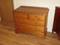 Antique Pine bedroom drawers