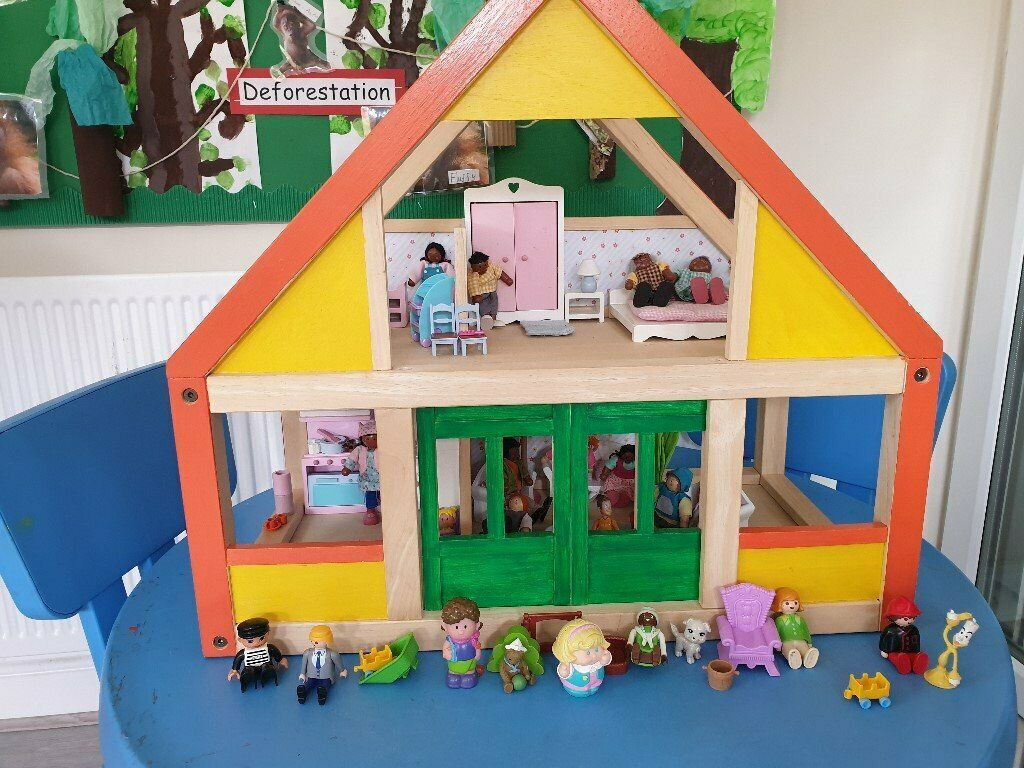 childminder selling plan toys wooden doll's house | in stratford, london |  gumtree