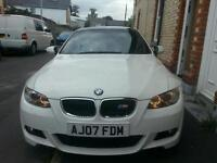 BMW 320d M sport coupe White/Black. Reduced price