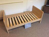 Mamas & Papas Cot / Toddler Bed - Natural Oak