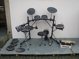 Full Alesis Electric Drum Kit with Alesis DM10 Control Station