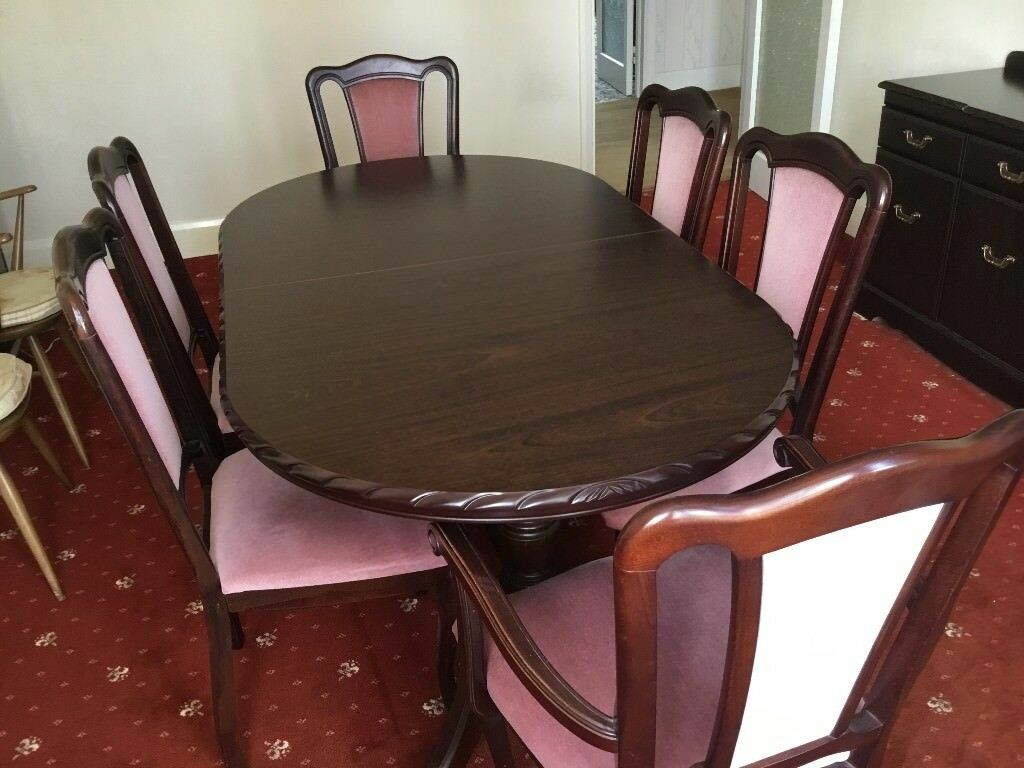 Tremendous Extending John E Coyle Mahogany Dining Table With 6 Chairs In North London London Gumtree Bralicious Painted Fabric Chair Ideas Braliciousco