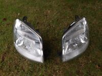 headlights / front lights a pair. for a peugeot partner or citroen berlingo ( car, mpv or van )
