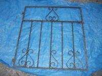 SOLID WROUGHT IRON GARDEN GATE 36 X 33.5 INCHES