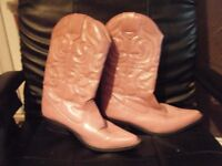 pink cowgirl boots