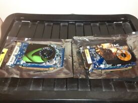 TWO OLD GRAPHIC CARDS