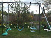 TP Triple giant swing with extension pole, three swings and a trapeze & rings
