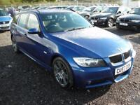 BMW 3 SERIES 2.0 318D M SPORT TOURING 5d 121 BHP (blue) 2007