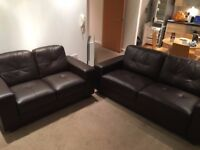 3+2 leather sofas in brand new condition.