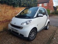 Smart car white semi automatic perfectly car and very well kept. Recently serviced and mot