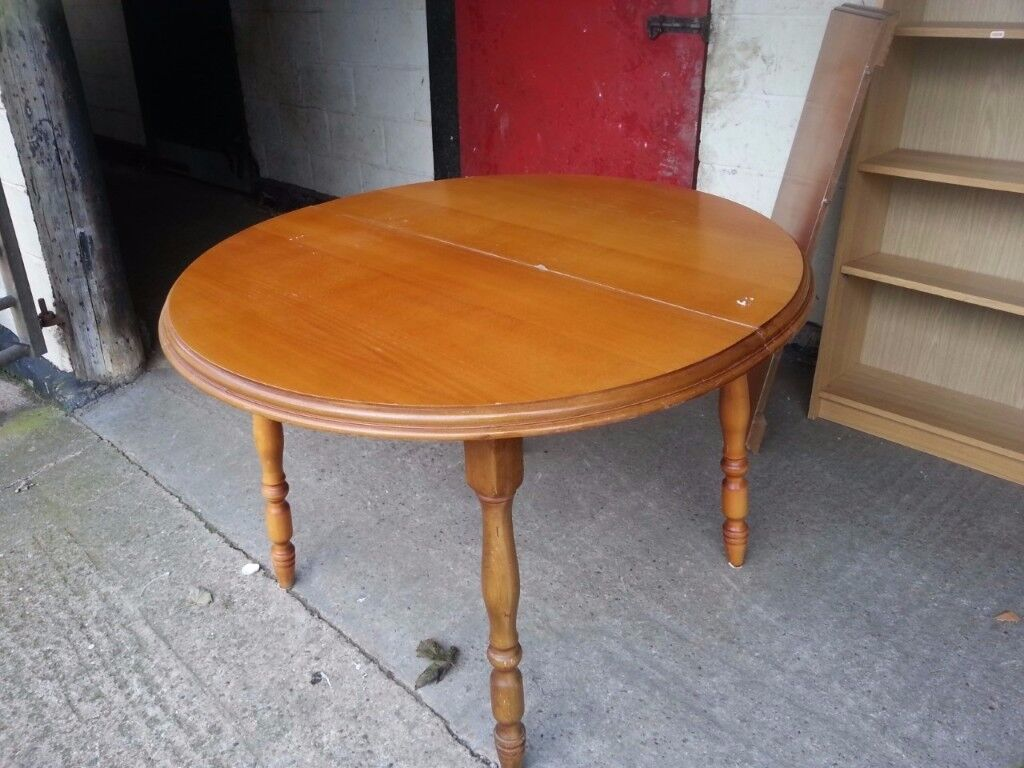 Oval Extending Dining Table Delivery Available