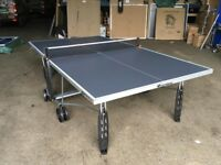 Grey Cornilleau Sport 100S Crossover Outdoor Table Tennis Table *ASSEMBLED* (mint condition)