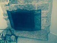 Large Black fireplace Screen '