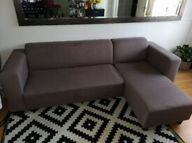 GREY CORNER SOFA - USED - GOOD CONDITION