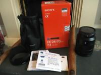 Sony FE 24 - 70mm F4 Carl Zeiss lens Image Stabilisation boxed with all accessories A7 A7s A7r