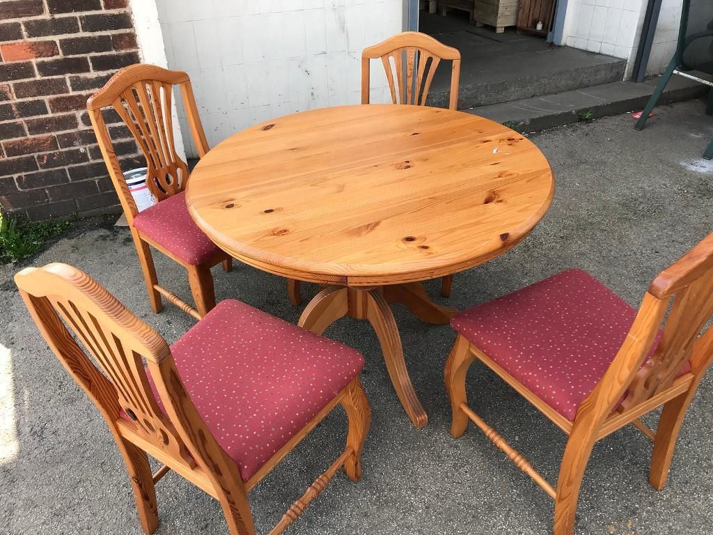 Pine Table And Chairs Rotherham