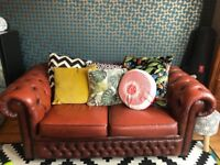 2 seater leather chesterfield sofa (offers accepted)