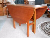 Drop-leaf table and four chairs