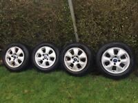 Ford Fiesta mk8 mk9 mk7 full set of alloys wheels with new tyres came of 11 reg Fiesta zetec