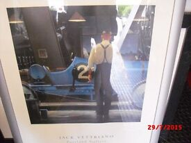 2 x Jack Vettriano Prints with silver frames.