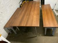 Heavy Duty Table and Benches with adjustable legs