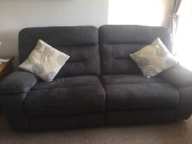 2&3 fabric reclining sofas excellent condition £400 ono fit any home and comes apart