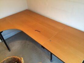IKEA workstation desk plus drawer/filing unit