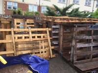 Free to collect only glass pallets left at the min
