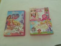 DVD. BARBIE 2/3 DVD'S. 2 BARBIE MOVIES AND SINGALONG - GREAT CONDITION