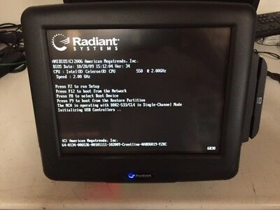 Radiant P1560-0139 15 Touch Screen Pos Terminal Celeron 550 2.0ghz 2gb Ram