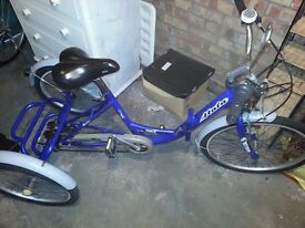Adult Unisex Atala Folding tricycle. Excellent condition.