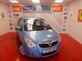 Vauxhall Agila DESIGN(LOW MILEAGE) FREE MOT'S AS LONG AS YOU OWN THE CAR!!! (blue) 2009
