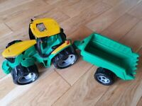 For sale used kids tractor with trailer