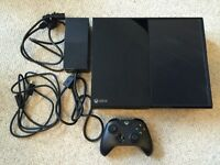 Xbox One console with 1 controller and wires included