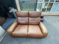FREE - 3 piece and 2 piece leather recliner sofa set