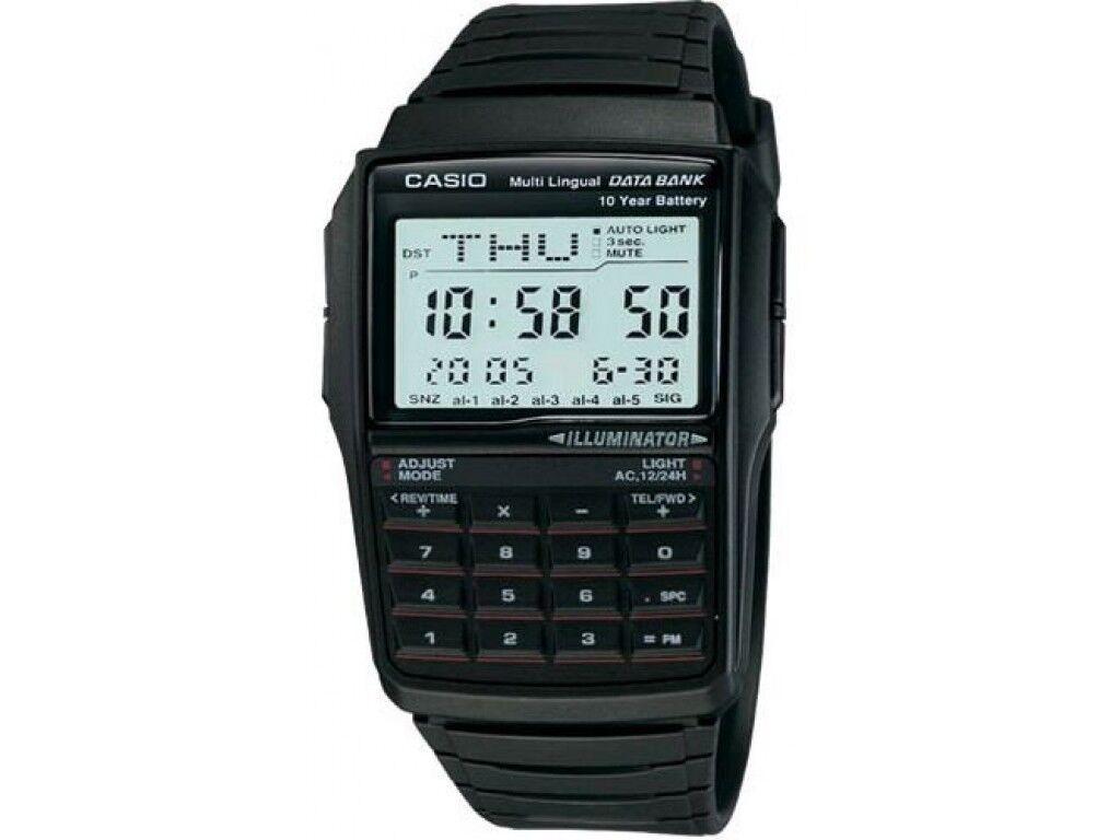 Купить Casio Men's Quartz Illuminator Calculator Black Resin Band 41mm Watch DBC32-1A