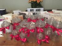 Assorted Candy Cart Glass Jars for Weddings and Events