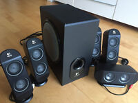 Logitech X530 Multimedia 5+1 PC Home Theatre Speaker System with subwoofer