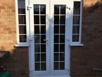 Upvc double glazed french doors with side windows