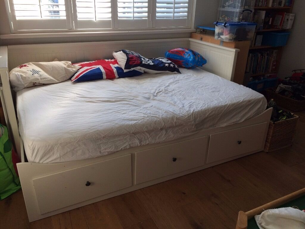 Ikea Hemnes Daybed - single bed or double bed (comes with a double mattress)
