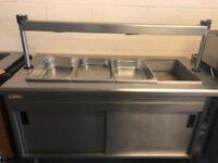 Large commercial carvery unit with hot cupboards underneath catering restaurant hotels pubs
