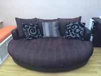 Black DFS Cuddler Sofa